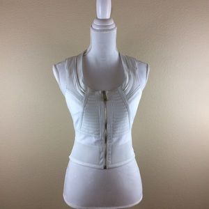 BEBE white lined vest